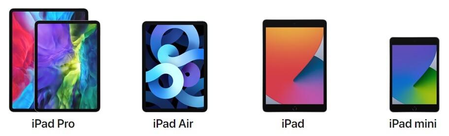 iPadにも種類がある